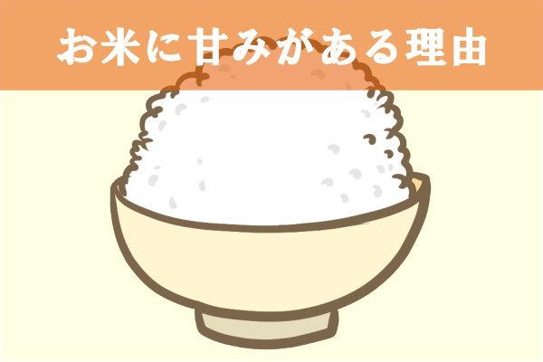 お米に甘みがある理由イラスト